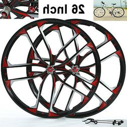 "BMX Cruiser 26"" mountain bike wheelset Disc Brake 10 Spoke M"