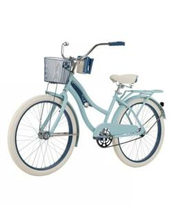"BRAND NEW Huffy 24"" Nel Lusso Girls' Cruiser Bike, Blue FAST"