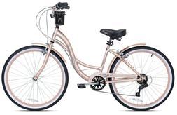 "NEW Kent 26"" Bayside Women's Cruiser Bike - Rose Gold *FREE"