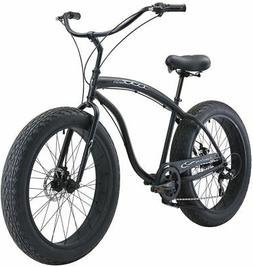 "Firmstrong Bruiser 7 Speed 4"" Fat Tire Men's 26"" Beach Cruis"