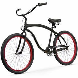 Firmstrong Bruiser Man 3-Speed Beach Cruiser Bicycle, 26-Inc