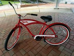 "Budweiser Beach Cruiser Bike - Mens 26"" Single Speed Bicycle"