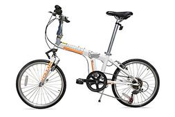 Allen Sports Central Aluminum 7 Speed Folding Bicycle with S