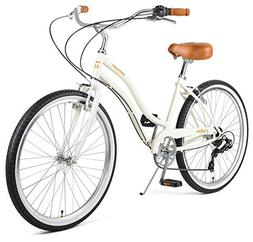 Retrospec Chatham Women's Beach Cruiser; Seven Speed, Eggshe
