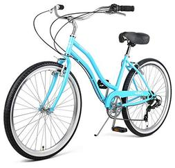Retrospec Chatham Women's Beach Cruiser; Seven Speed, Sky Bl