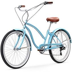 Firmstrong Chief Lady 7-Speed Beach Cruiser Bicycle, 26-Inch