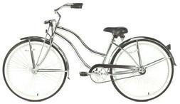 """Chrome Lady's 26"""" Beach Cruiser Bike 68 Spokes Springer Fork"""