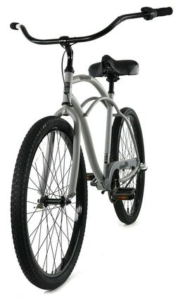 Zycle Fix Classic Beach Cruiser Men 3 Speed Bicycle Bike Gre