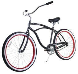 Zycle Fix Classic Beach Cruiser Men Bicycle Bike Black Black