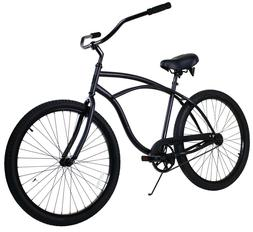 Zycle Fix Classic Beach Cruiser Men Bicycle Bike Black Matte