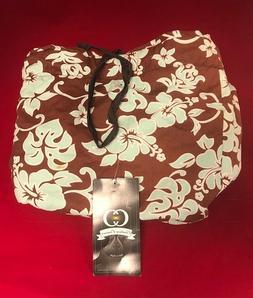 CLASSIC HAWAIIAN PRINT BIKE BASKET LINER BAG BY COUTURE CRUI