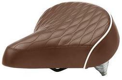 Schwinn Comfort Bike Saddle, Wide Cruiser Saddle, Quilted, B