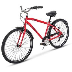 Huffy Mens Commuter Bike, Hyde Park 27.5 inch 7-Speed, Light