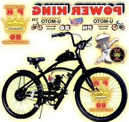 """COMPLETE 2-STROKE 66cc/80cc Motorized Bike Kit  And 26"""" Re"""