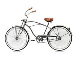 """Micargi COUGAR GTS 26"""" Men's Beach Cruiser Bike Bicycle, Chr"""