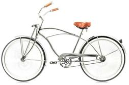 "Micargi Cougar GTS, Chrome - Men's 26"" Beach Cruiser Bike Li"