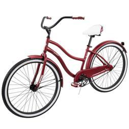 """Huffy Cranbrook 26"""" Women's Cruiser Bike Dark Red"""