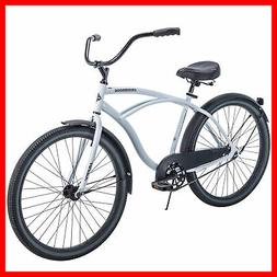 CRUISER BICYCLE Commuter 26 Inch Mens Huffy City Beach White