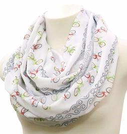 Cruiser bicycle infinity scarf birthday gift for her bike ri