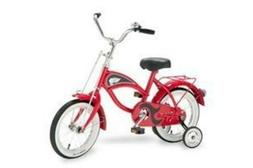 "Morgan Cycle 14"" Cruiser Bicycle with Training Wheels, Red"