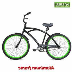cruiser bike 26 mens aluminum frame black