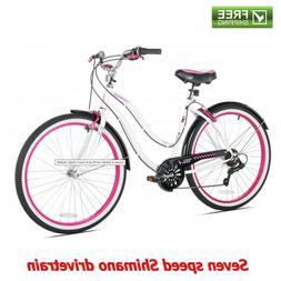 """Kent Cruiser Bike 26"""" Women White Beach City Comfort Bicyc"""