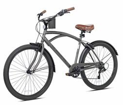 "Kent Cruiser Bike Men 26"" Gray Comfort Beach City Commuter"