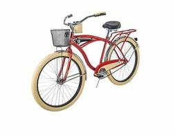 Huffy Cruiser Bike Mens Deluxe 26 inch Red NEW
