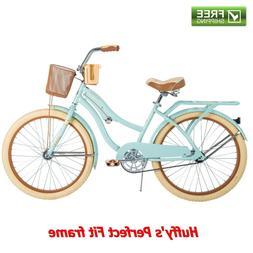 """Huffy Cruiser Bike Women's 24"""" Green Beach City Comfort Bicy"""