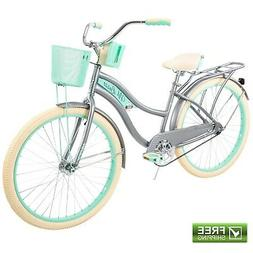 "Huffy Cruiser Bike Women's 26"" Gray Beach City Comfort Bicyc"
