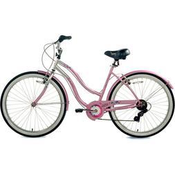 CRUISER BIKE Womens Bicycle 26-Inch Wheels Light Pink Steel