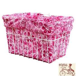 CRUISER CANDY HAWAIIAN PINK REVERSIBLE BIKE BASKET LINER