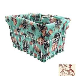 CRUISER CANDY PINEAPPLE REVERSIBLE BIKE BASKET LINER