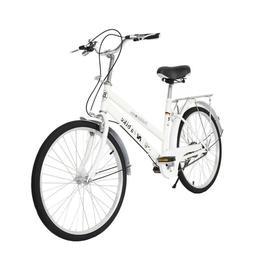 """Cruiser Commuter Bike 24"""" Women's Comfort White Beach Hy"""