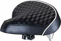 Schwinn Quilted Wide Cruiser Saddle Foam for Bicycle Bike Bl