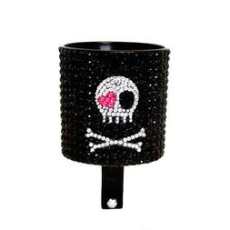 Cruiser Candy Cup Holder Skull Bling Cups Bk Skull Rinestone