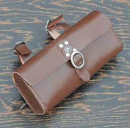 Dark Brown Leather Bike Tool Bag / Pouch Fixies Vintage Schw