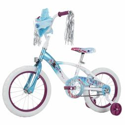 "Disney Frozen 2 Blue and White Bike For Girls 16""  With Soun"