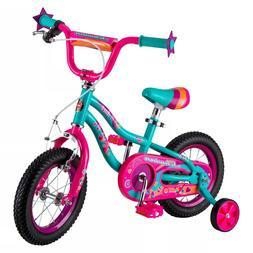 Schwinn Duet 12 inch Girls Bike Kids Bicycle Pink with Train