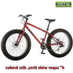 "Mongoose Fat Tire 26"" Mountain Bike Red All Terrain Fun Be"