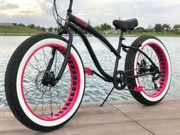 SIKK Fat Tire Cruiser Ladies🌴 7 SPEED DISC BRAKES🌴 CUT