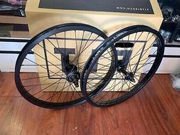 FIT BIKES COMPLETE 22 INCH FREECOASTER WHEEL SET WHEELS BLAC