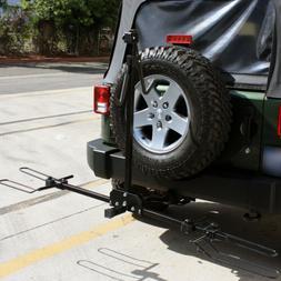 foldable and tilt 2 bike carrier platform