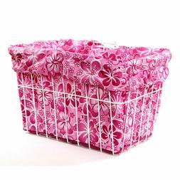 FREE SHIP CRUISER Candy Pink Hawaiian Bike Bicycle Basket Li