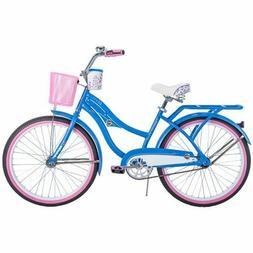 Girls 24 inch Bikes w Basket Cup Cruiser Bicycle Birthday Gr