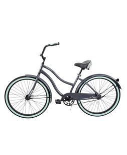 """Gray Cruiser Bike 26"""" Women Comfort City Beach Commuter Pi"""