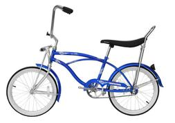 "Micargi HERO-M-BL Men's 20"" Beach Cruiser Banana Seat Bicycl"