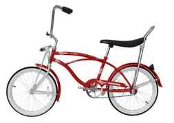 "Micargi HERO-M-RED Men's 20"" Beach Cruiser Banana Seat Bicyc"