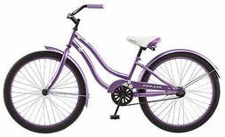 "Kulana Girls Hiku Cruiser Bicycle with 24"" Wheels, Purple, 1"