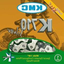 "KMC HL710 Silver Single-Speed Half Link Bike Chain 1/2"" x 1/"